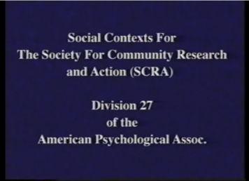Social Contexts of SCRA Symposium 1997